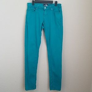The North Face | Teal blue retro skinny jeans